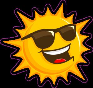 cartoon sun wearing sunglasses
